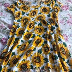 American Apparel Sunflower Babydoll Dress